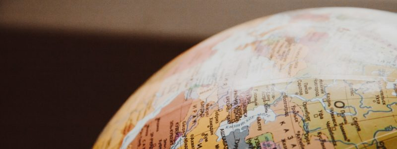 a Russian globe