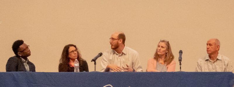 Panel with Phillip A. Townsend, Victoria Suescum, Jason Reed, Charlotte Gullick, and Fidencio Duran.