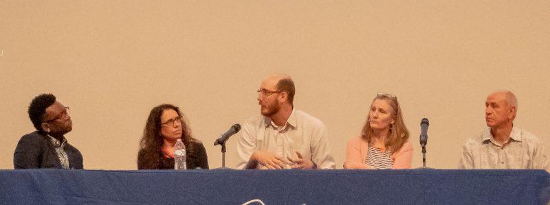 Panel with Phillip A. Townsend, Victoria Suescum, Jason Reed, Charlotte Gullick, and Fidencio Duran.