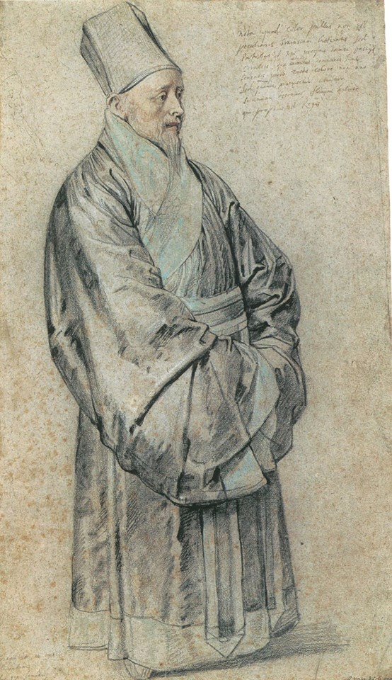 Painting of a Chinese philosopher