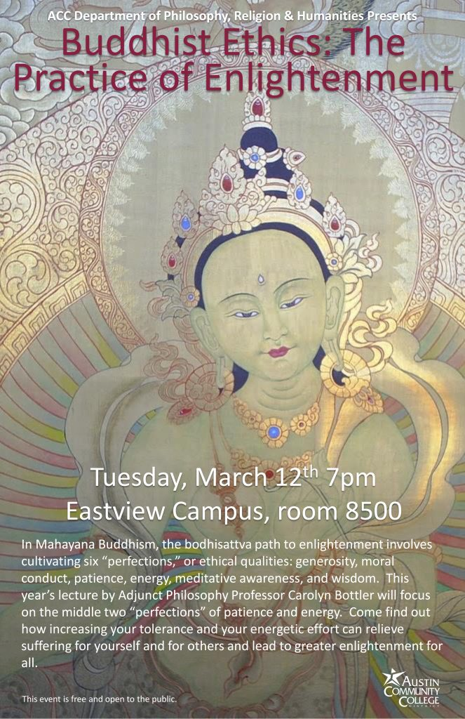 Buddhist imagery and information about the event