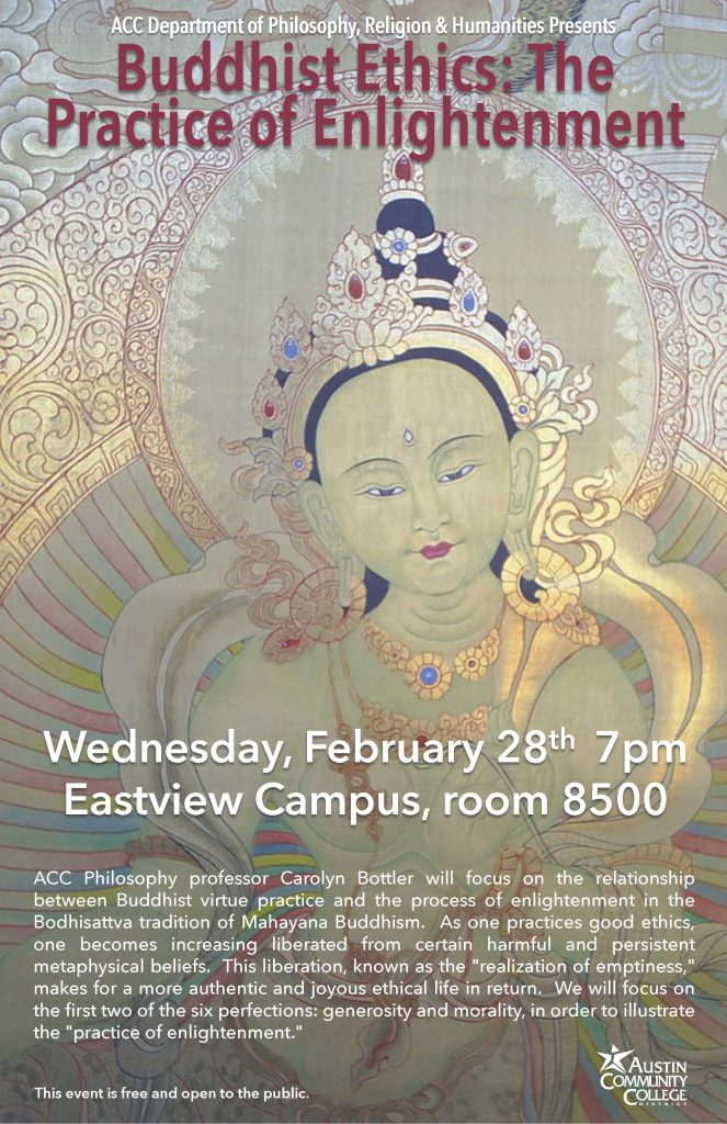 Information about the event with Buddhist imagery