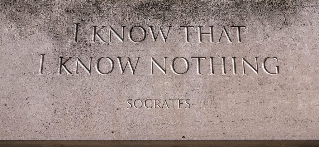 The phrase I know that I know nothing - Socrates